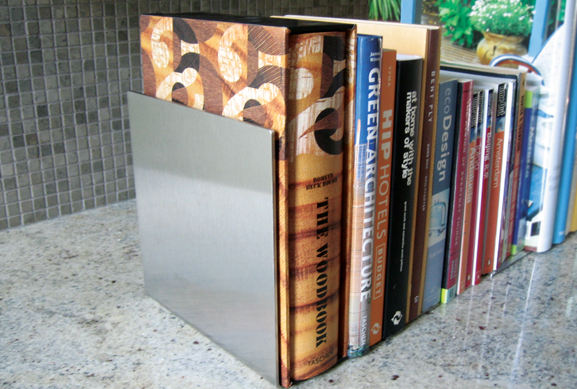 Stainless Bookends